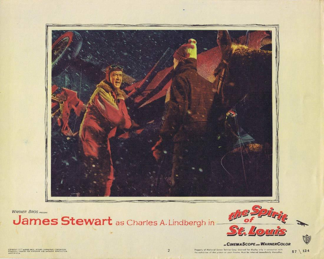 THE SPIRIT OF ST LOUIS Vintage Lobby Card 2 JAMES STEWART Charles Lindbergh