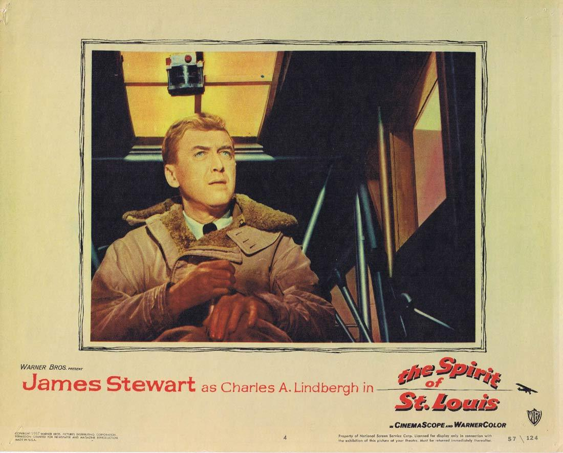 THE SPIRIT OF ST LOUIS Vintage Lobby Card 4 JAMES STEWART Charles Lindbergh