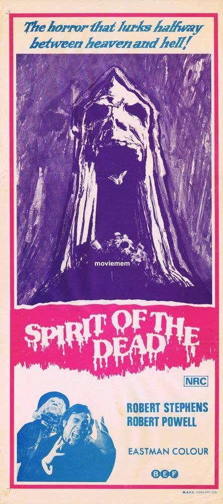 SPIRIT OF THE DEAD aka ASPHYX Original Daybill Movie poster Robert Stephens