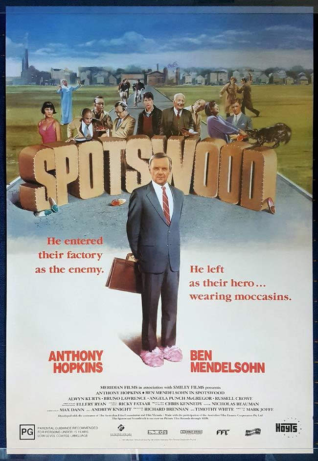 "SPOTSWOOD Australian One Sheet Movie Poster ROLLED Anthony Hopkins ""A"""