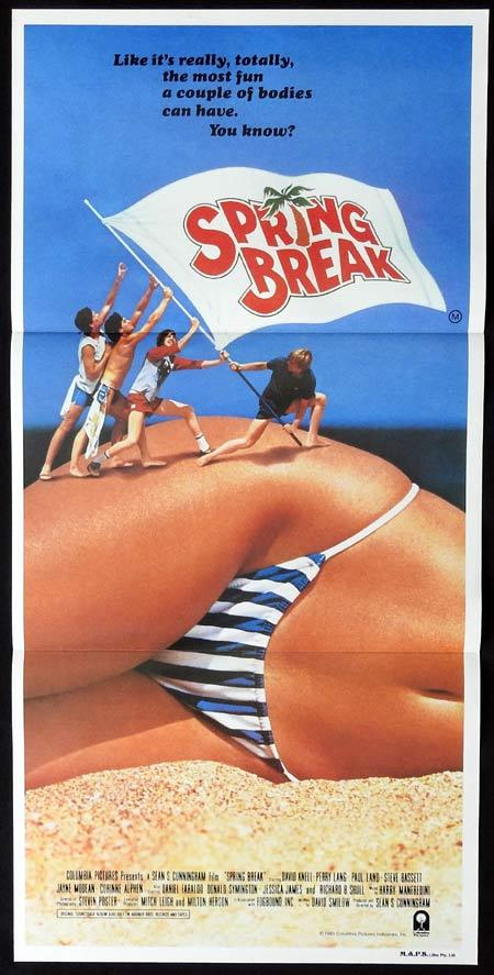 SPRING BREAK Daybill Movie poster David Knell Perry Lang Bikini