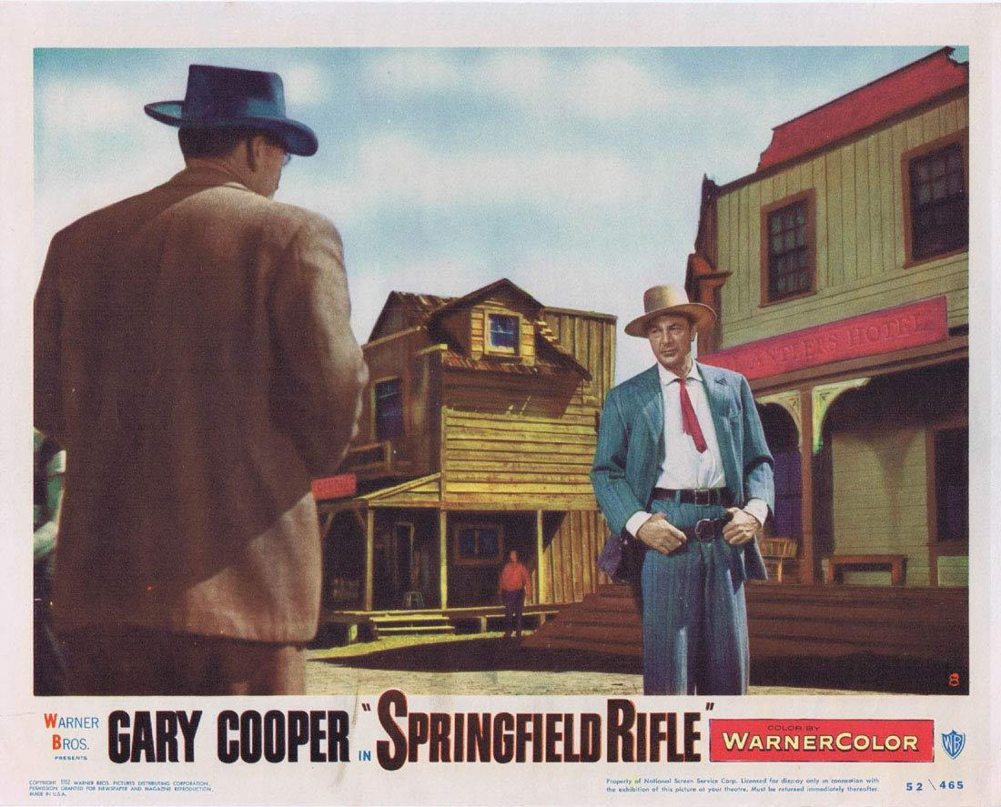 SPRINGFIELD RIFLE Lobby Card 8 1952 Gary Cooper, with Phyllis Thaxter Lon Chaney Jr
