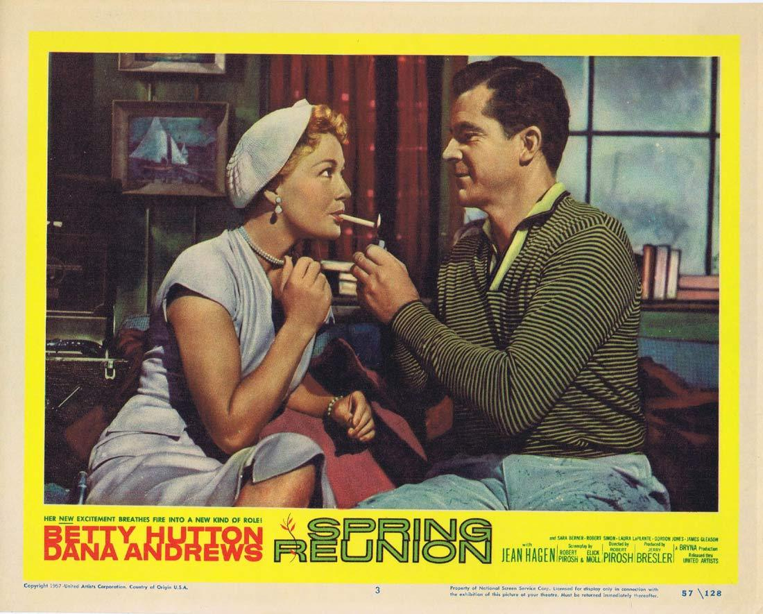 SPRING REUNION Original Lobby Card 3 Dana Andrews Betty Hutton