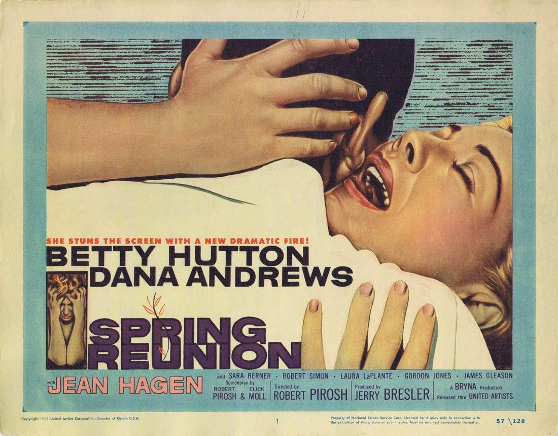 SPRING REUNION Original Title Lobby Card Betty Hutton Dana Andrews