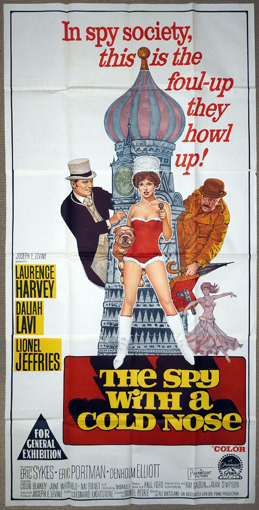 The Spy with a Cold Nose, Daniel Petrie, Laurence Harvey, Daliah Lavi, Lionel Jeffries, Eric Sykes