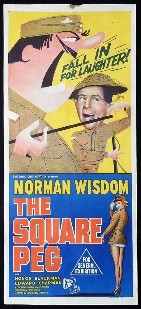THE SQUARE PEG Daybill Movie poster Norman Wisdom Honor Blackman