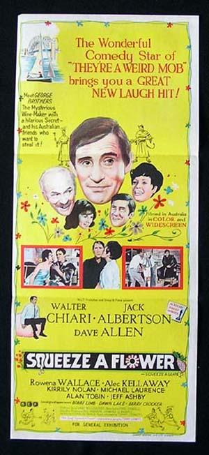 SQUEEZE A FLOWER 1970 Walter Chiari Australian Daybill Movie poster