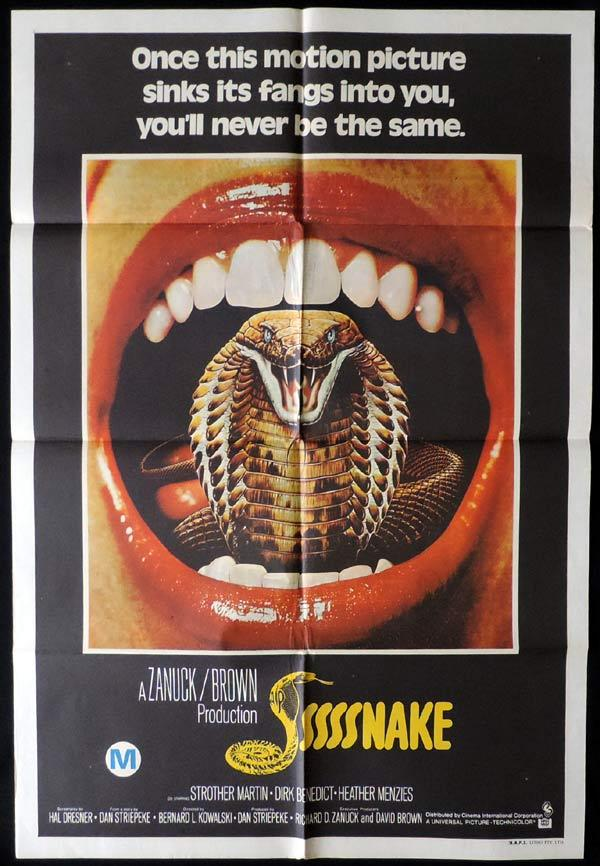 SSSSNAKE One Sheet Movie Poster Strother Martin Horror