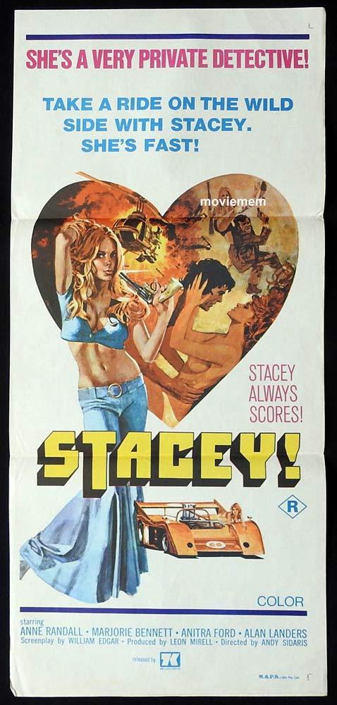 STACEY Original Daybill Movie Poster Anne Randall Sexploitation