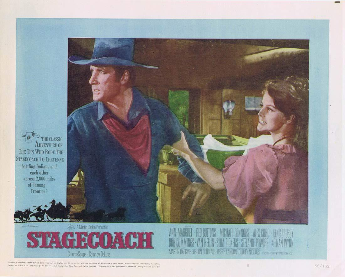 STAGECOACH Lobby Card 5 Ann-Margret Red Buttons
