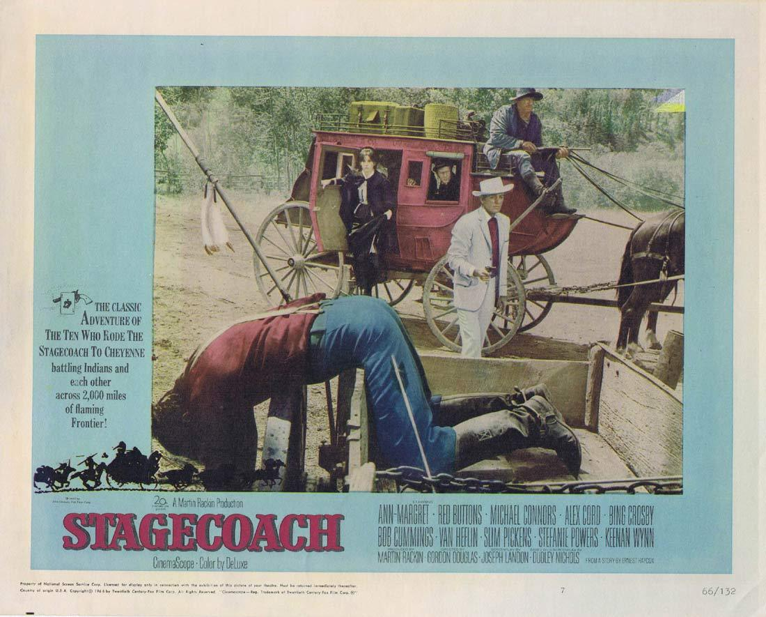 STAGECOACH Lobby Card 7 Ann-Margret Red Buttons