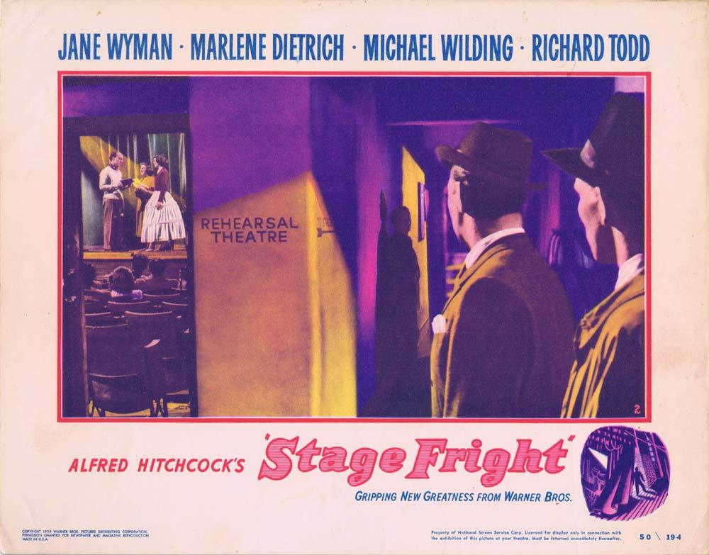 STAGE FRIGHT Lobby Card 2 Alfred Hitchcock Richard Todd