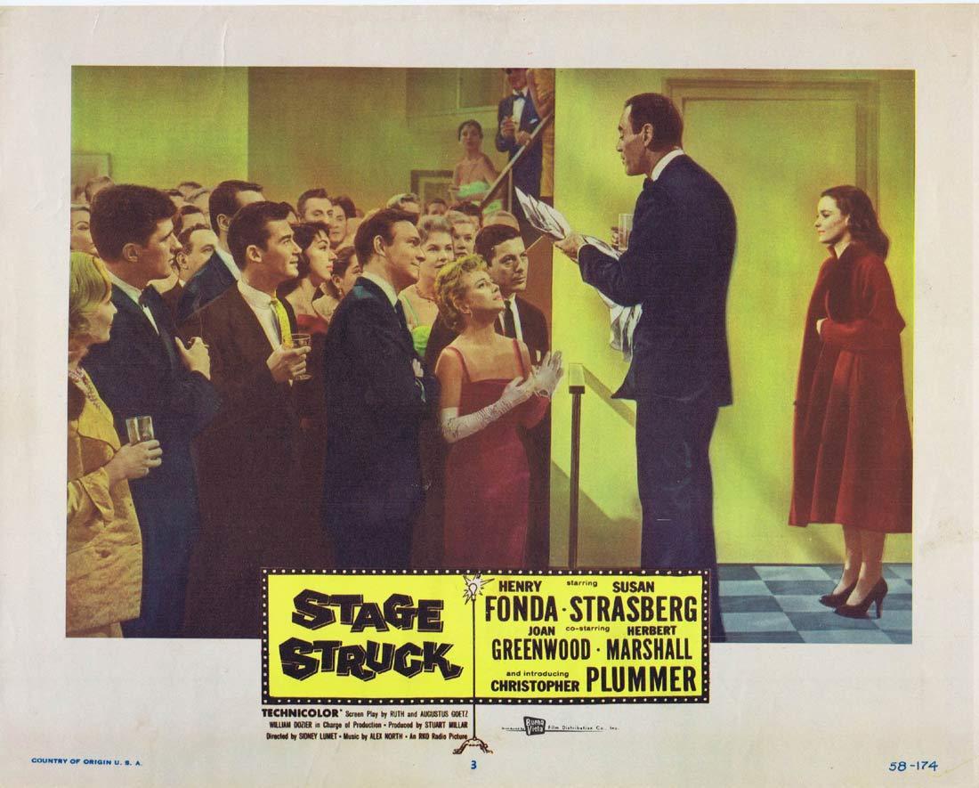 STAGE STRUCK Original Lobby Card 3 Henry Fonda Susan Strasberg