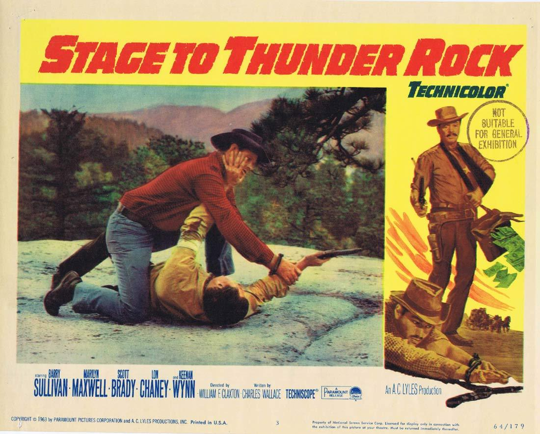 STAGE TO THUNDER ROCK Lobby card 3 Barry Sullivan Marilyn Maxwell