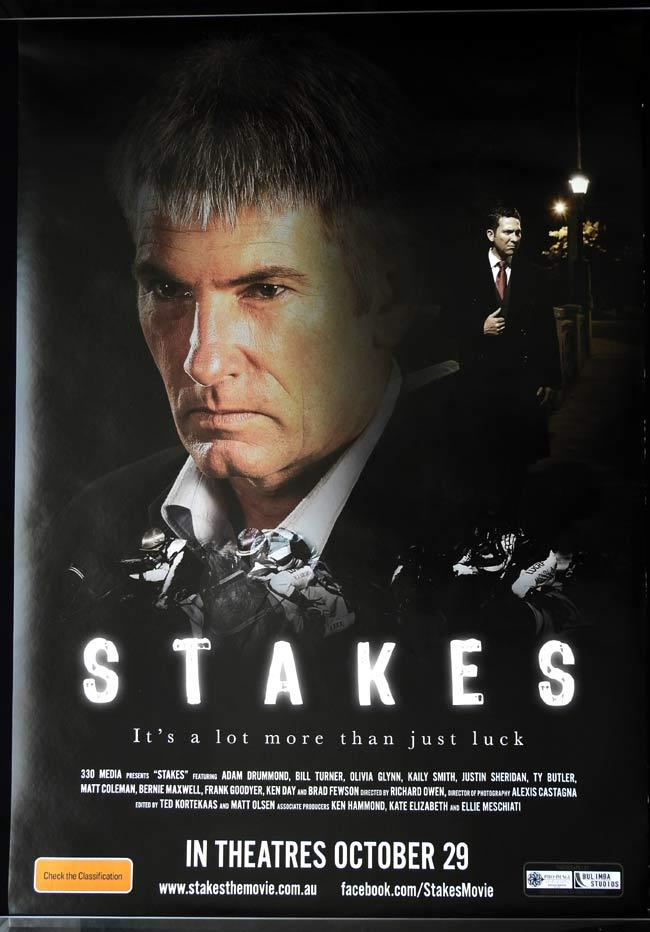 STAKES Australian One sheet movie poster Drummond Olivia Kate Glynn Australian Film