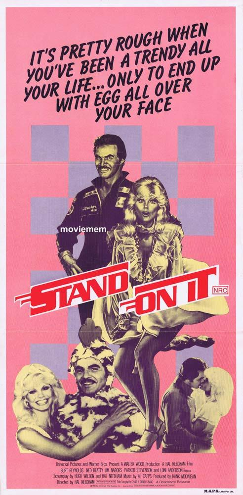 STAND ON IT aka STROKER ACE Original Daybill Movie Poster Burt Reynolds Nascar