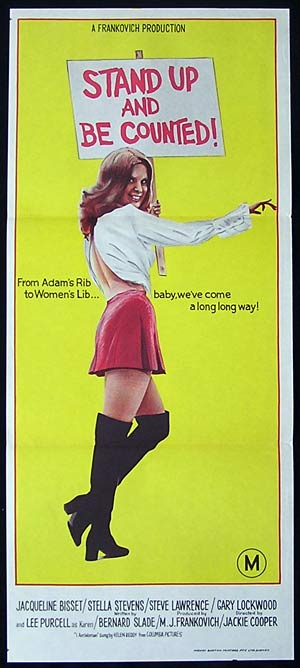 STAND UP AND BE COUNTED Original Daybill Movie poster Jacqueline Bissett