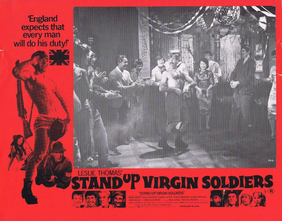 STAND UP VIRGIN SOLDIERS Original Australian Lobby Card 2 Warren Mitchell