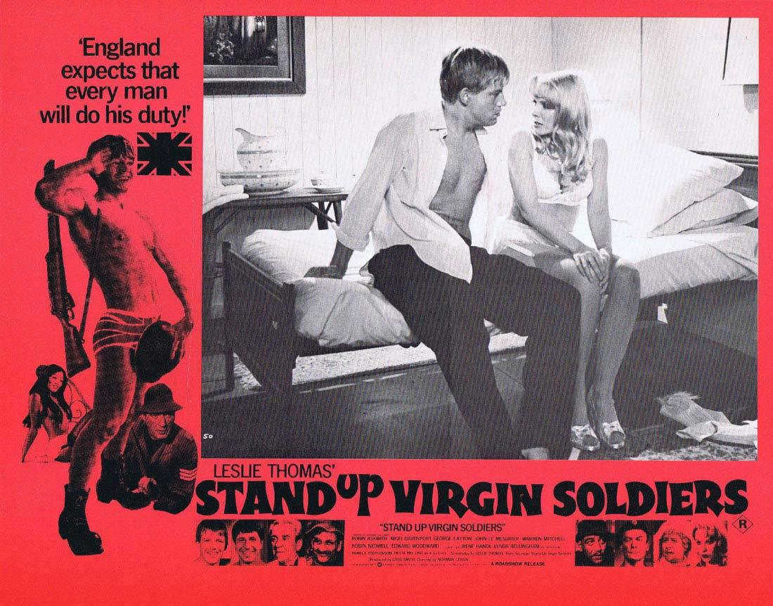 STAND UP VIRGIN SOLDIERS Original Australian Lobby Card 4 Robin Askwith Nigel Davenport