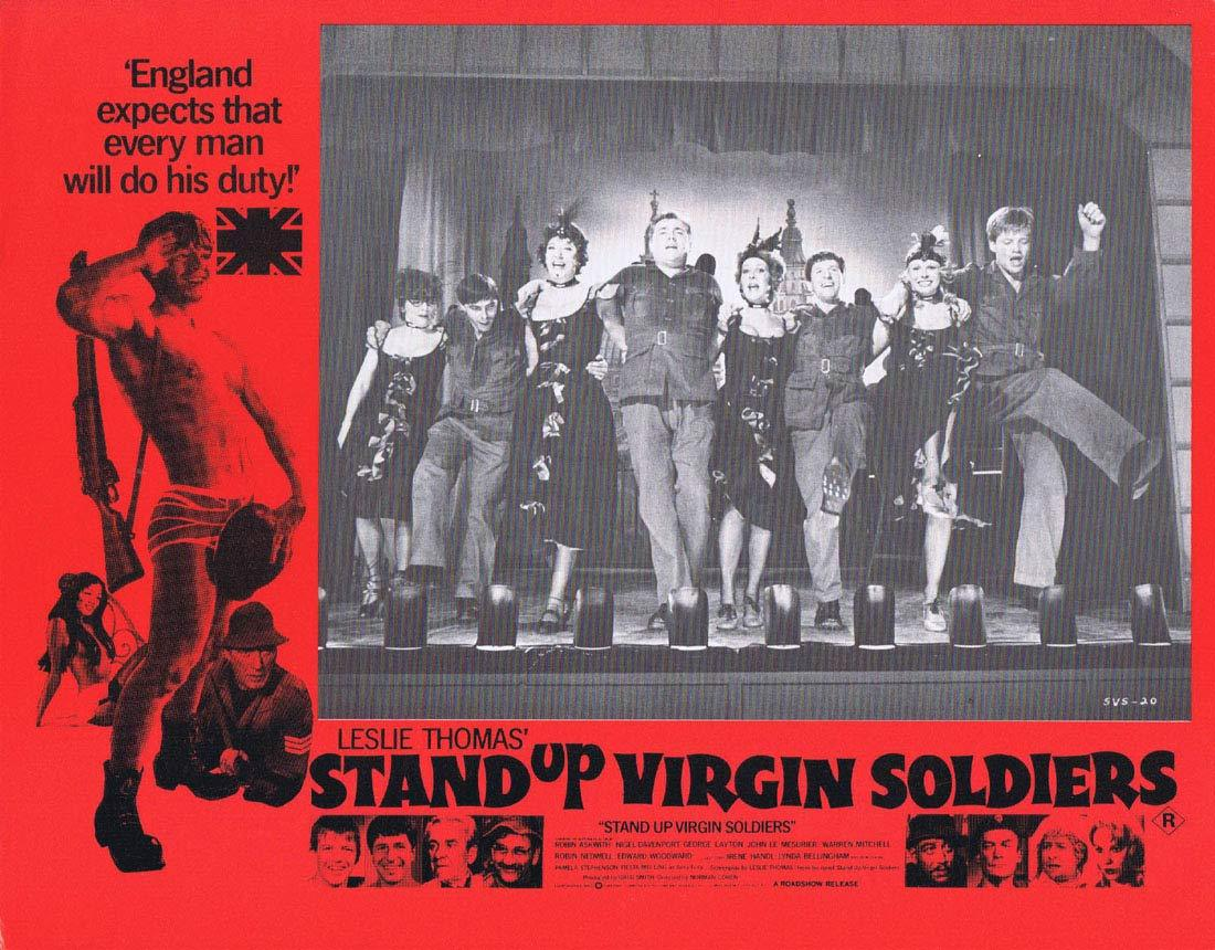 STAND UP VIRGIN SOLDIERS Original Australian Lobby Card 7 Robin Askwith Nigel Davenport