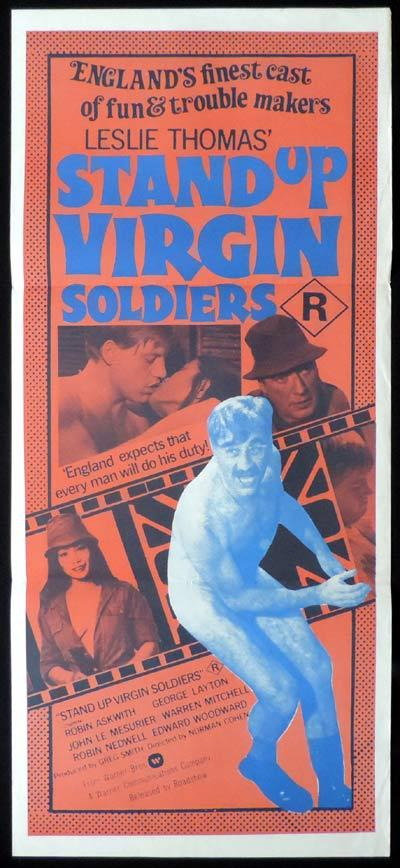 STAND UP VIRGIN SOLDIERS Daybill Movie Poster Edward Woodward