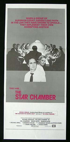THE STAR CHAMBER Daybill Movie Poster 1983 Michael Douglas