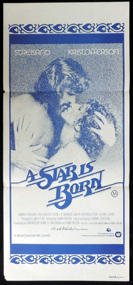 A STAR IS BORN Original Daybill Movie Poster Barbra Streisand Kris Kristofferson