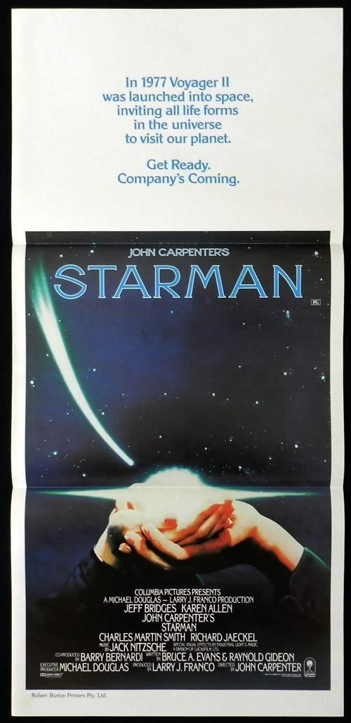 STARMAN 1984 John Carpenter Vintage Australian daybill Movie poster