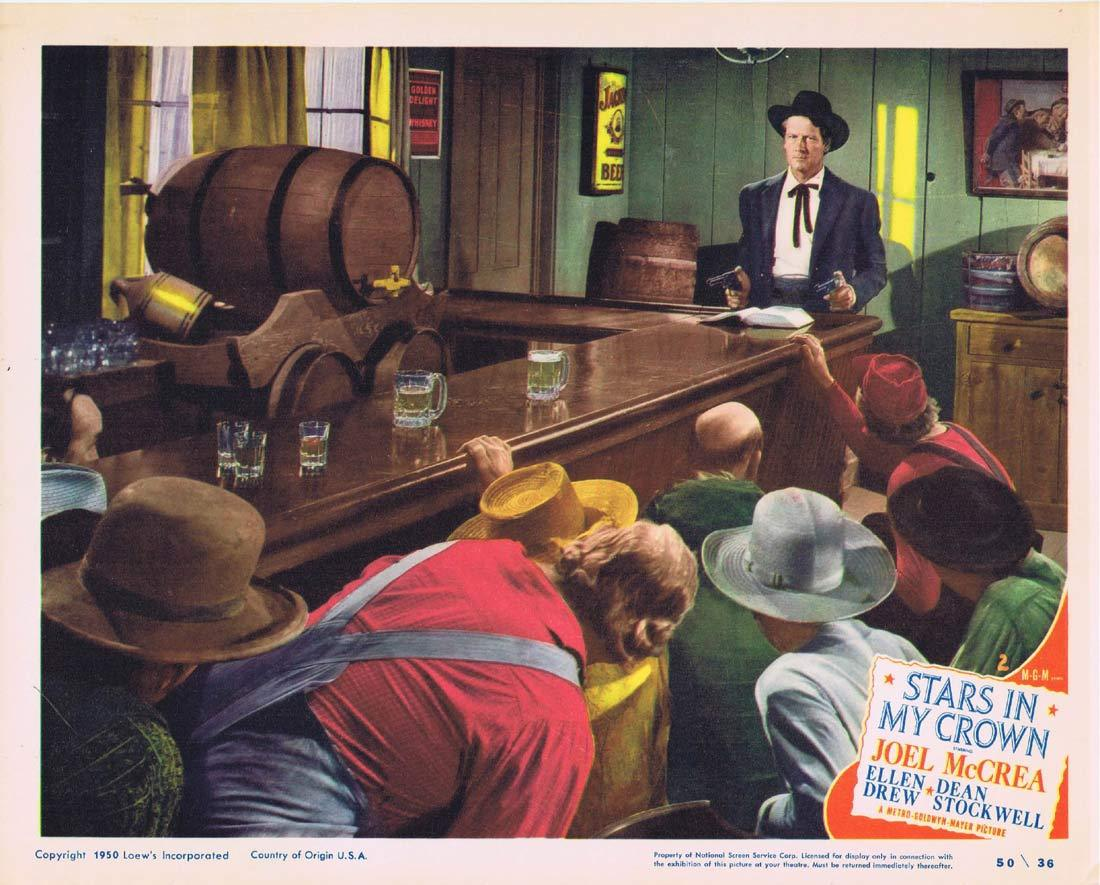 STARS IN MY CROWN Original Lobby Card 2 Joel McCrea Ellen Drew
