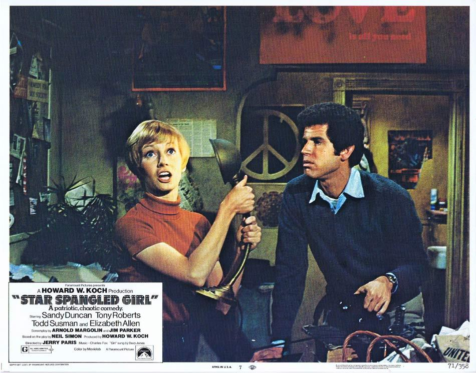 STAR SPANGLED GIRL Lobby Card 7 Tony Roberts Todd Susman Sandy Duncan