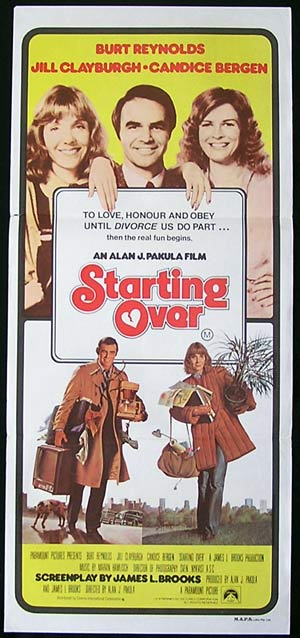 STARTING OVER '79-Burt Reynolds-JILL CLAYBURGH  poster
