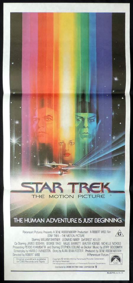 STAR TREK Original Daybill Movie Poster Sci Fi William Shatner Leonard Nimoy