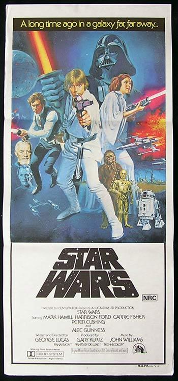 STAR WARS Original Daybill Movie Poster TOM CHANTRELL art