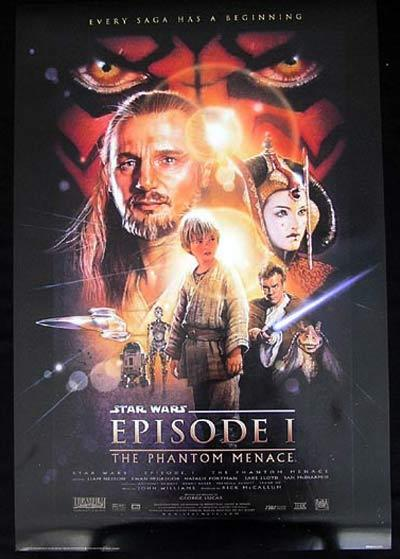 STAR WARS Movie poster Episode One Phantom Menace Portal
