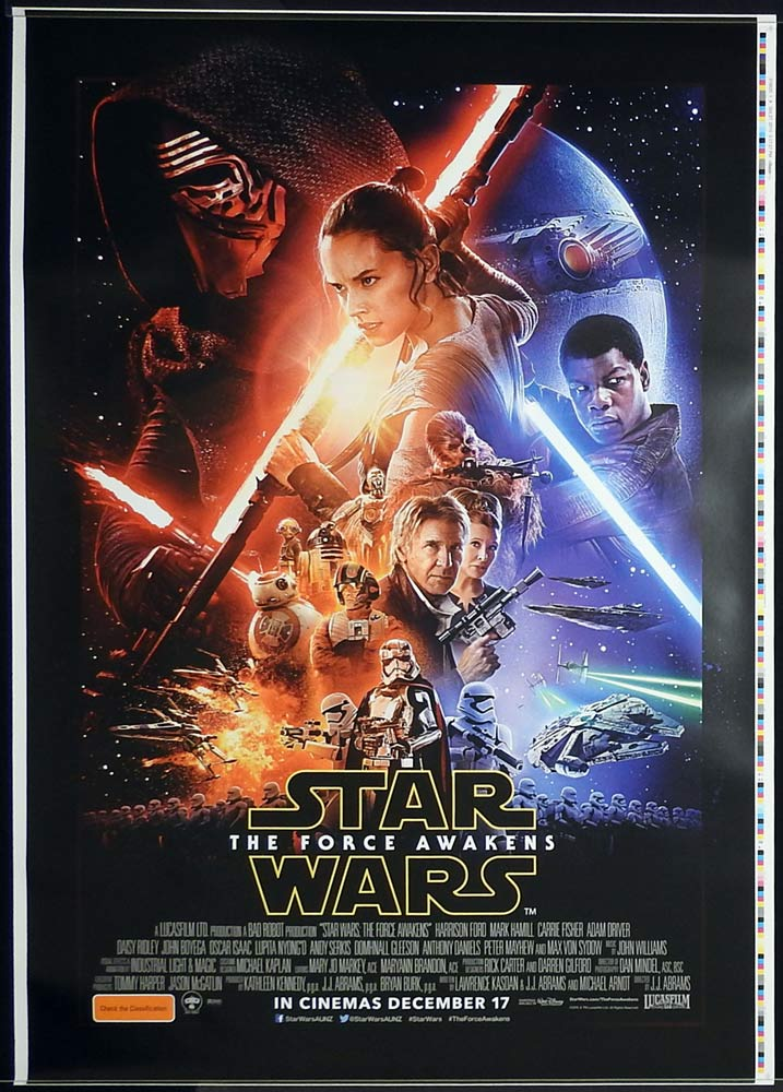 FORCE AWAKENS printer's test advance DS Aust 1sh 2015 Star Wars: Episode VII