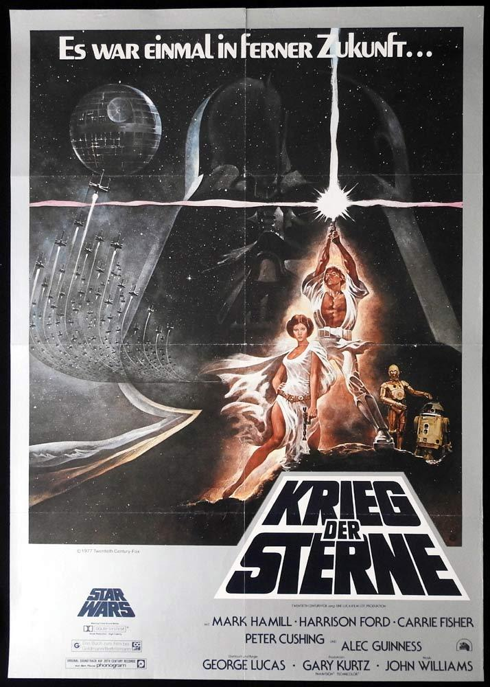 STAR WARS Original GERMAN Movie Poster Tom Jung
