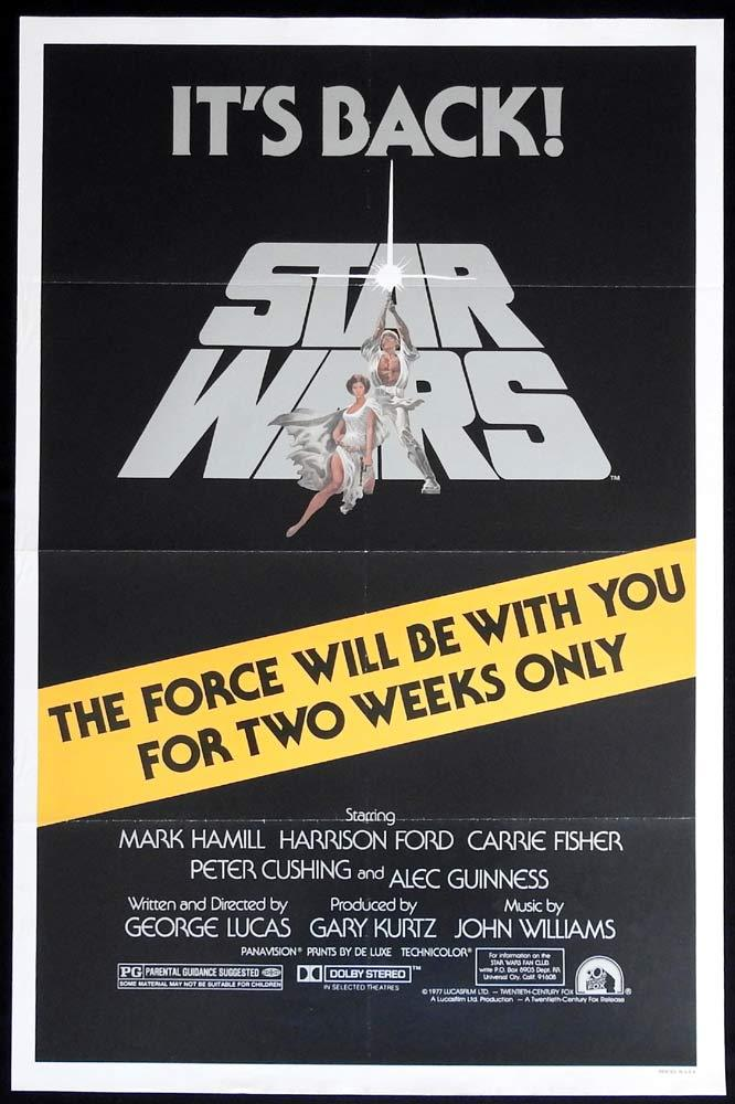 STAR WARS ITS BACK! 1981 Original US One sheet movie poster