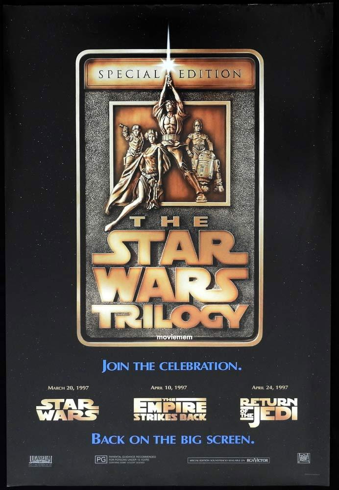 STAR WARS TRILOGY Original One sheet movie poster 1997