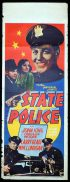 STATE POLICE Long Daybill Movie poster 1938 William Lundigan