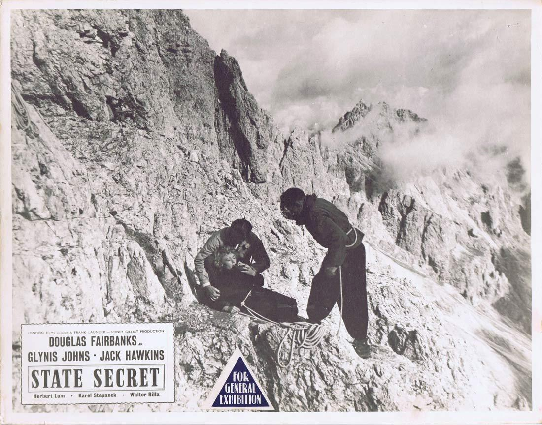 STATE SECRET Original Australian Lobby Card 1 Glynis Johns Douglas Fairbanks Jr.