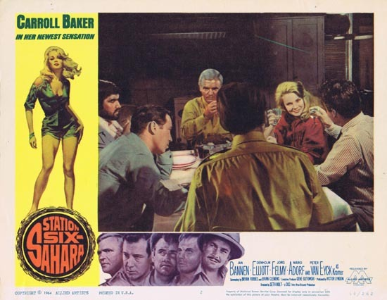 STATION SIX SAHARA Lobby Card 2 Carroll Baker