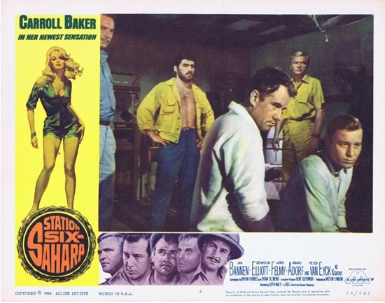 STATION SIX SAHARA Lobby Card 4 Carroll Baker