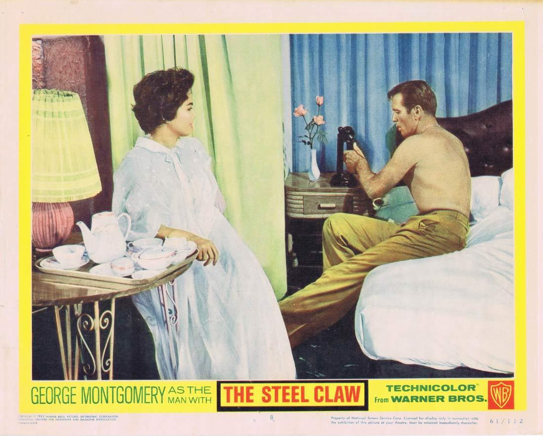 THE STEEL CLAW Lobby Card 8 George Montgomery Charito Luna Mario Barri