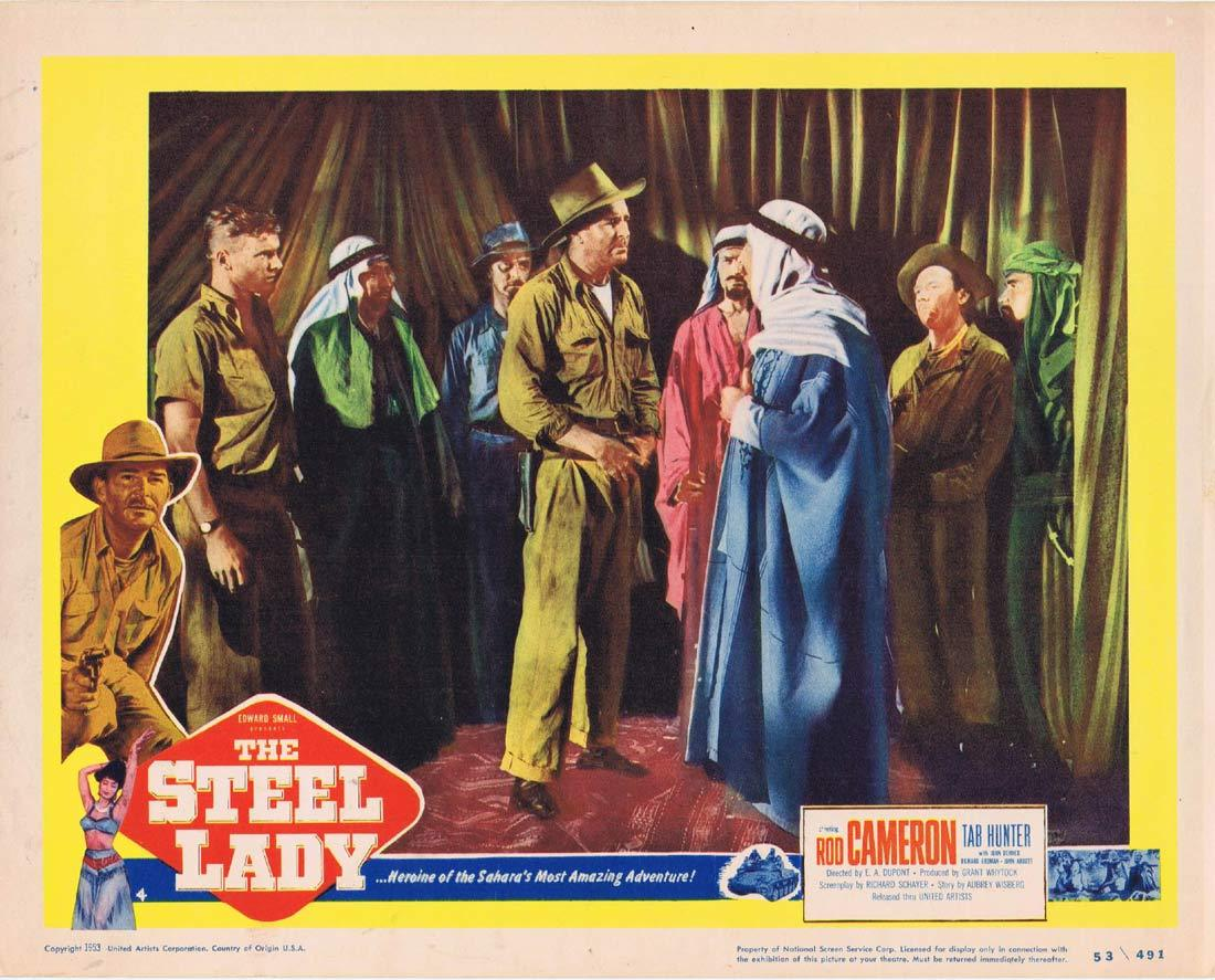 THE STEEL LADY Original Lobby Card Rod Cameron Tab Hunter
