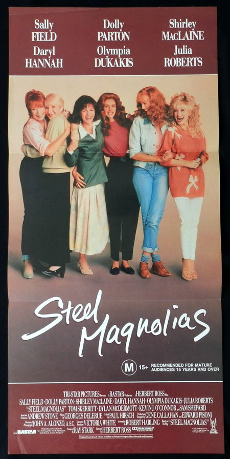 STEEL MAGNOLIAS Sally Field Julia Roberts VINTAGE Daybill Movie poster