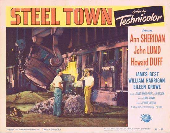 STEEL TOWN Lobby Card 5 1952 Ann Sheridan