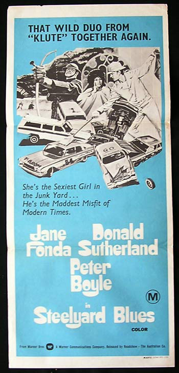 STEELYARD BLUES Original Daybill Movie Poster Donald Sutherland Jane Fonda