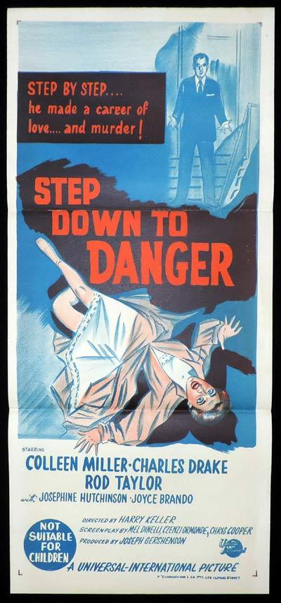 STEP DOWN TO DANGER Daybill Movie Poster Film Noir Rod Taylor