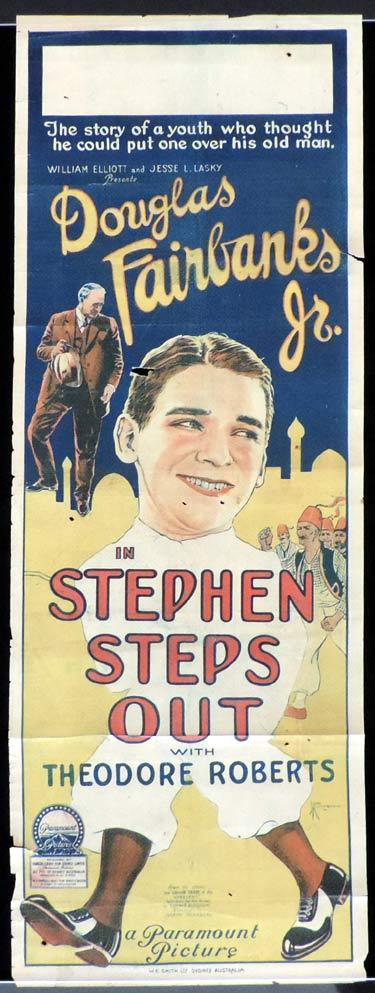 STEPHEN STEPS OUT Long Daybill Movie poster 1923 JOHN RICHARDSON signature