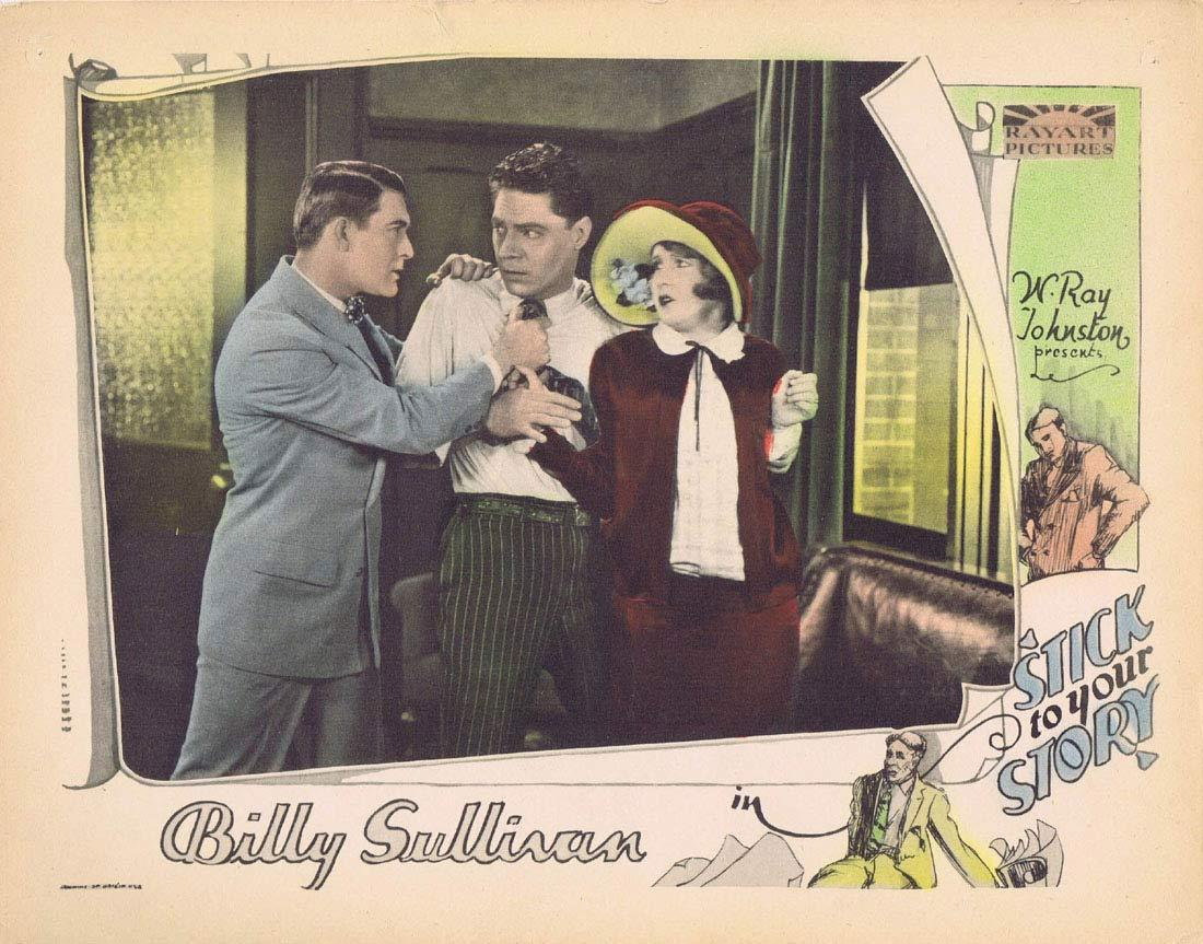 STICK TO YOUR STORY Original Lobby Card Billy Sullvian Silent Cinema